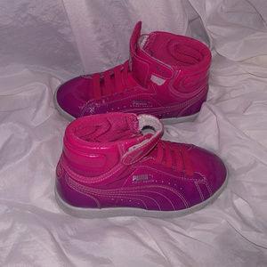 Girls PUMA Hi Tops Pink Shoes Girls Size 12